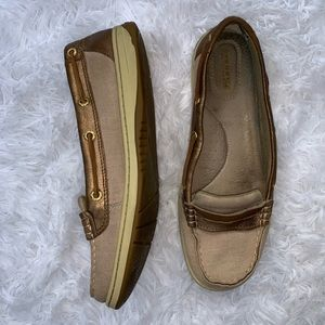 Sperry Top-Slider metalic leather casual loafer